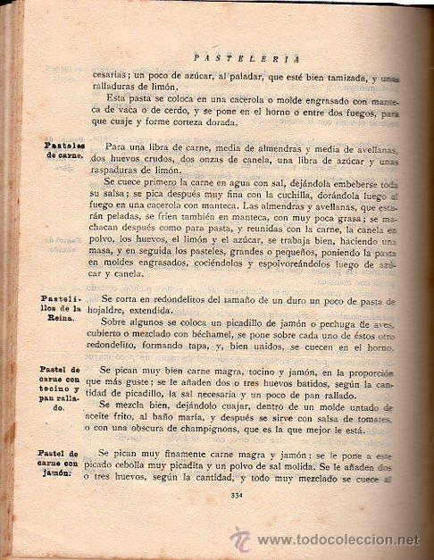 Libros antiguos: ISABEL GALLARDO DE ÁLVAREZ, LA COCINA, DOS TOMOS, SATURNINO CALLEJA, MADRID, 1922 - Foto 9 - 29571936