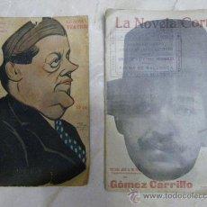 Libros antiguos: LIBRILLOS GRAPADOS: LA NOVELA CORTA Y LA NOVELA TEATRAL. (1918 Y 1919). Lote 29580150