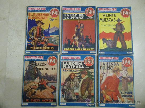 BIBLIOTECA DE ORO. AZUL. AÑO I. PRIMERA EDICIÓN 1933 Y 1934. NÚM.: 1, 5, 6, 8, 9 Y 10. (Libros Antiguos, Raros y Curiosos - Literatura - Otros)