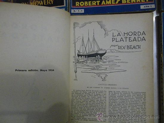 Libros antiguos: Biblioteca de Oro. Azul. Año I. Primera edición 1933 y 1934. Núm.: 1, 5, 6, 8, 9 y 10. - Foto 4 - 29591190