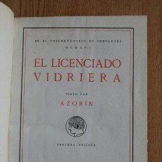 Libros antiguos: EL LICENCIADO VIDRIERA, VISTO POR… AZORÍN. Lote 29624715