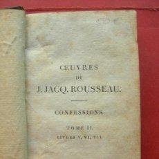 Livres anciens: LES CONFESSIONS - J. JACQ. ROUSSEAU - AÑO 1808 - TOMO II. Lote 144450212