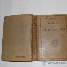 Libros antiguos: ANTOLOGÍA DE TEXTOS CASTELLANOS. SIGLOS XIII AL XX. JOSÉ ROGERIO SÁNCHEZ RM55695. Lote 29732379