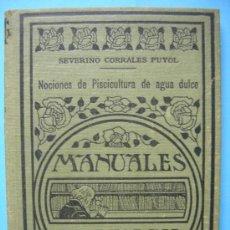 Libros antiguos: NOCIONES DE PISCICULTURA DE AGUA DULCE - ESPASA CALPE - MADRID 1936. Lote 29737853