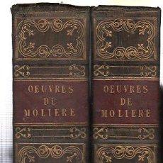 Libros antiguos: OUBRES DE MOLIERE, PAR M. SAINTE BEUVE, DOS TOMOS, PARÍS, CHEZ PAULIN, 1835. Lote 29759413