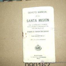 Libros antiguos: MANUAL SANTA MISIÓN. Lote 29776958