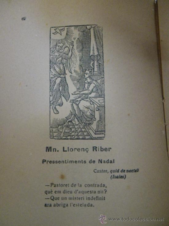 Libros antiguos: Antologia de Nadal. ed. Joan Merlí, 1923. (En catalán). Tria i pròleg de Tomás de la Selva. - Foto 3 - 29786662