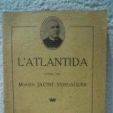Libros antiguos: L'ATLANTIDA (POEMA). Lote 29859669