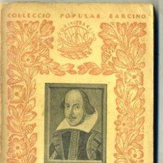 Libros antiguos: C. A. JORDANA : RESUM DE LITERATURA ANGLESA (1934) - COL. BARCINO. EN CATALÁN. Lote 41210783