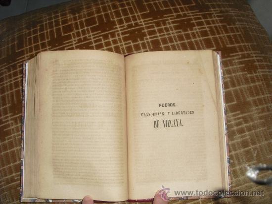 Libros antiguos: 1854 LEYES DE ALAVA FUEROS DE GUIPUZCOA Y FUEROS FRANQUEZAS Y LIBERTADES DE VIZCAYA VALLECILLO - Foto 2 - 29935364