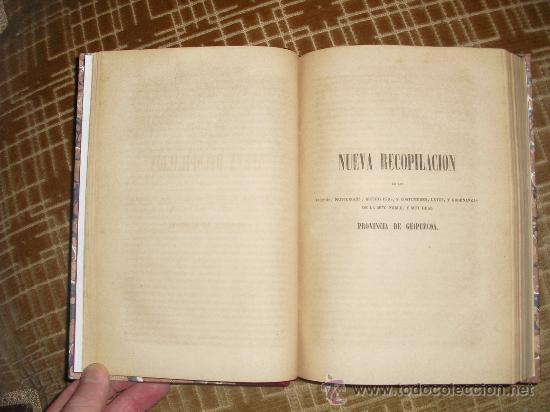 Libros antiguos: 1854 LEYES DE ALAVA FUEROS DE GUIPUZCOA Y FUEROS FRANQUEZAS Y LIBERTADES DE VIZCAYA VALLECILLO - Foto 4 - 29935364