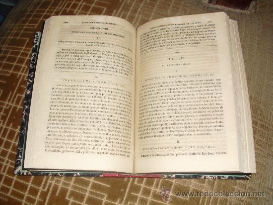 Libros antiguos: 1854 CONSTITUTIONS Y ALTRES DRETS DE CATALUNYA VALLECILLO - Foto 5 - 29935514