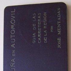 Libros antiguos: AÑO 1912 ** CATALUÑA EN AUTOMOVIL ** GUIA DE LAS CARRETERAS DE LA REGION * JOSE MUNTADAS. Lote 29947341