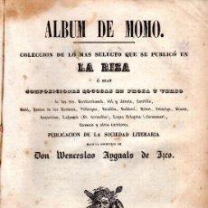 Libros antiguos: ALBUM DE MOMO POR WENCESLAO AYGUALS DE IZCO - MADRID 1847.. Lote 29972142