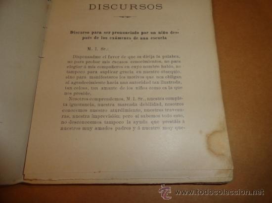 Libros antiguos: LIBRO DE ESCUELA DISCURSOS,DIALOGOS Y POESIAS PARA NIÑOS Y NIÑAS 1901 - Foto 4 - 30055113