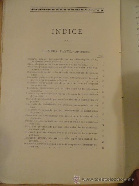 Libros antiguos: LIBRO DE ESCUELA DISCURSOS,DIALOGOS Y POESIAS PARA NIÑOS Y NIÑAS 1901 - Foto 7 - 30055113