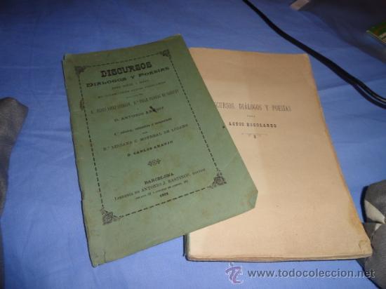 Libros antiguos: LIBRO DE ESCUELA DISCURSOS,DIALOGOS Y POESIAS PARA NIÑOS Y NIÑAS 1901 - Foto 13 - 30055113