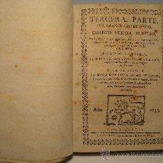Libros antiguos: TERCERA PARTE DEL GRANDE HIJO DE DAVID, CHRISTO SEÑOR NUESTRO. HISTORIA EVANG AÑO 1733. Lote 30113853