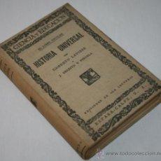 Libros antiguos: HISTORIA UNIVERSAL - EL LIBRO ESCOLAR - ERNESTO LAVISSE - 1927 . Lote 30198021