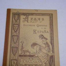 Libros antiguos: ATLAS HISTORICO GENERAL Y DE ESPAÑA POR SALVADOR SALINAS 1936, 56 PÁGS CON MAPAS COLOR, LÁMINAS.... Lote 30208015