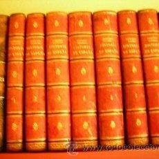 Libros antiguos: HISTORIA GENERAL DE ESPAÑA Y DE SUS INDIAS. VICTOR GEBHARDT. HABANA. 1864. 7 VOLÚMENES LOMO PIEL. Lote 30295723