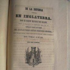 Libros antiguos: 1852 DE LA DEFENSA NACIONAL EN INGLATERRA BARON MAURICE DE SELLON. Lote 30313394
