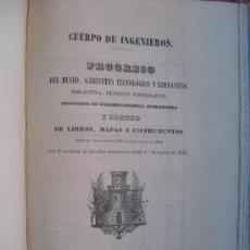 Libros antiguos: 1852 PROGRESO DEL MUSEO GABINETE TECNOLOGICO Y GIMNASTICO BIBLIOTECA Y DEPOSITO TOPOGRAFICO. Lote 30314088