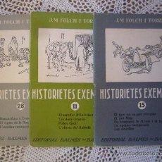 Libros antiguos: LIBRITO HISTORIAS EJEMPLARES J M FOLCH I TORRES Nº 11 15 28 PRIMERAS EDICIONES F P . Lote 30443890