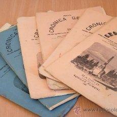 Libros antiguos: CRÓNICA GENERAL DE ESPAÑA. ILUSTRADA CON GRABADOS. PROVINCIA DE VIZCAYA. 6 FASCÍCULOS. INCOMPLETA.. Lote 30804144