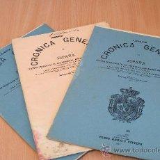 Libros antiguos: CRÓNICA GENERAL DE ESPAÑA. ILUSTRADA CON GRABADOS. PROVINCIA DE ALBACETE. 3 FASCÍCULOS. INCOMPLETA.. Lote 30804224
