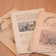 Libros antiguos: CRÓNICA GENERAL DE ESPAÑA. ILUSTRADA CON GRABADOS. PROVINCIA DE LA CORUÑA. 3 FASCÍCULOS. INCOMPLETA. Lote 30805227