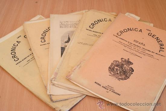 CRÓNICA GENERAL DE ESPAÑA. ILUSTRADA CON GRABADOS. PROVINCIA DE LEÓN. 6 FASCÍCULOS. COMPLETA. (Libros Antiguos, Raros y Curiosos - Bellas artes, ocio y coleccionismo - Otros)