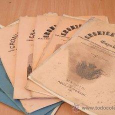 Libros antiguos: CRÓNICA GENERAL DE ESPAÑA. ILUSTRADA CON GRABADOS. PRINCIPADO DE ASTURIAS. 7 FASCÍCULOS. INCOMPLETA.. Lote 30837312