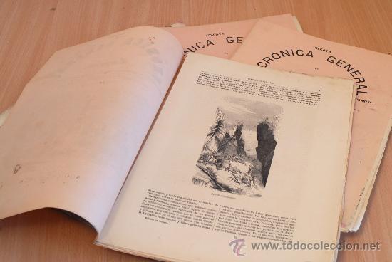 Libros antiguos: Crónica General de España. Ilustrada con grabados. Provincia de Vizcaya. 6 fascículos. Incompleta. - Foto 2 - 30804144
