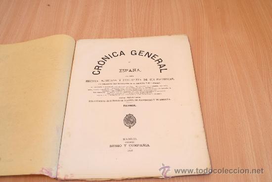Libros antiguos: Crónica General de España. Ilustrada con grabados. Provincia de Palencia. 1 fascículo. Incompleta. - Foto 2 - 30805358