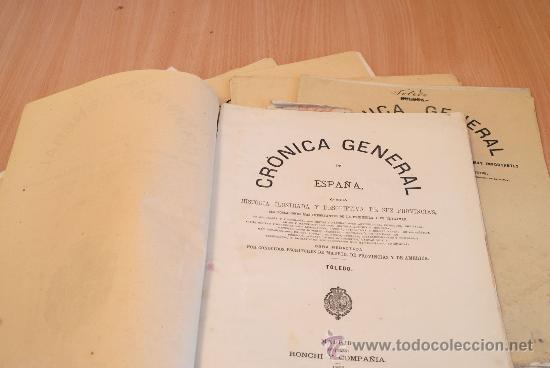 Libros antiguos: Crónica General de España. Ilustrada con grabados. Provincia de Toledo. 7 fascículos. Completa. - Foto 2 - 30836775