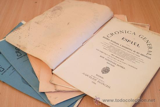 Libros antiguos: Crónica General de España. Ilustrada con grabados. Principado de Asturias. 7 fascículos. Incompleta. - Foto 2 - 30837312
