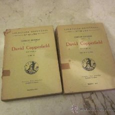 Libros antiguos: CARLOS DICKENS - DAVID COPPERFIELD TOMOS III I IV - EDITORIAL CALPE 1924. Lote 30461572