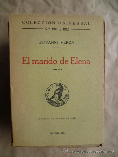 EL MARIDO DE ELENA. Nº 881 Y 882, EDICION 1924, 205 PAGINAS (Libros antiguos (hasta 1936), raros y curiosos - Literatura - Narrativa - Otros)