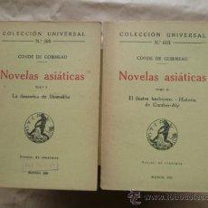 Libros antiguos: C. DE GOBINEAU : NOVELAS ASIÁTICAS TOMO I Y II - LA DANZARINA DE SHAMAKHA (CALPE, 1922). Lote 30629556