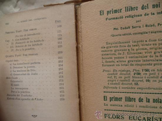 Libros antiguos: LA MISSIÓ DEL CATEQUISTA, F. Gelle, 292 pag. - Foto 4 - 30638327