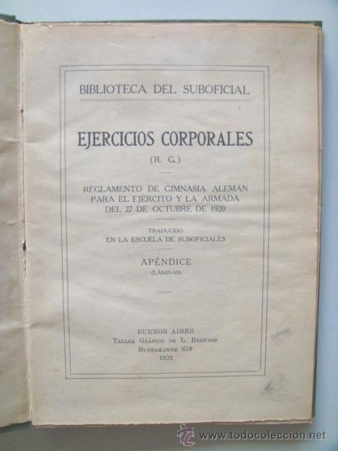 [PERON JUAN DOMINGO] EJERCICIOS CORPORALES. 1923. ILUSTRADO POR PERÓN. INHALLABLE (Libros Antiguos, Raros y Curiosos - Historia - Otros)