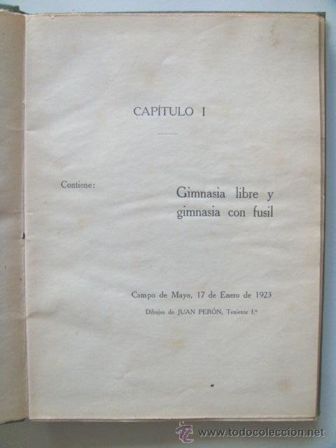 Libros antiguos: [PERON Juan Domingo] EJERCICIOS CORPORALES. 1923. Ilustrado por Perón. Inhallable - Foto 2 - 30915525