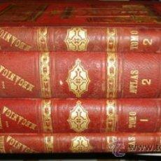 Libros antiguos: TRATADO GENERAL DE MECÁNICA, REULEAUX, 5 TOMOS EN DOS VOLÚMENES + 2 ATLAS, BARCELONA, NACENTE EDITOR. Lote 30918364