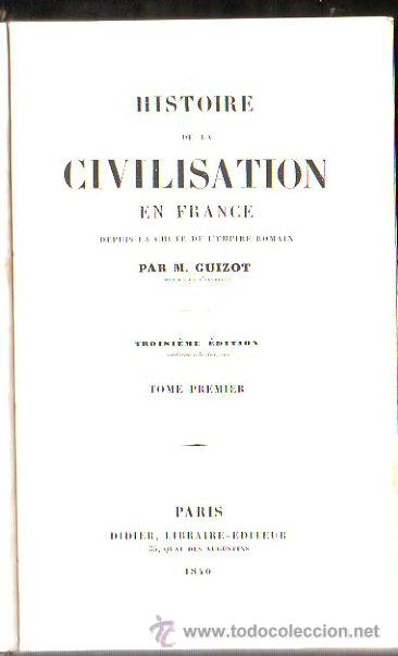 Libros antiguos: HISTOIRE DE LA CIVILISATION EN FRANCE, M. GUIZOT, 5 TOMOS, PARIS, DIDIER, 1840 - Foto 5 - 30967884