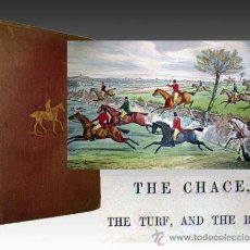 Libros antiguos: 1870 CAZA Y DEPORTES A CABALLO -EDICION ORIGINAL EN INGLES 13 LAMINAS ILUMINADAS. Lote 31073298