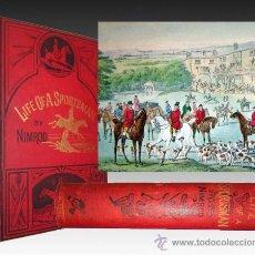Libros antiguos: 1874 LA VIDA DE UN DEPORTISTA - EDICION ORIGINAL INGLESA - 34 LAMINAS ILUMINADAS. Lote 31096004