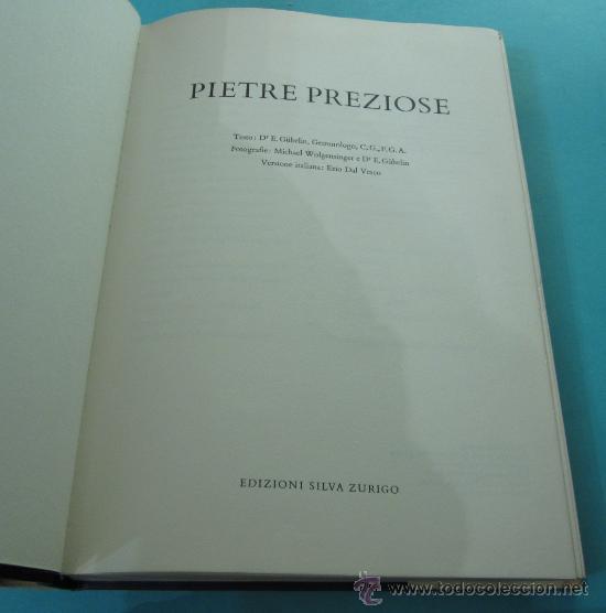 Libros antiguos: PIETRE PREZIOSE. DR. E. GÜBELIN. GEMÓLOGO. VERSIÓN ITALIANA - Foto 2 - 31174598