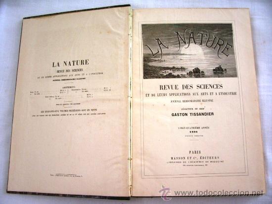 LA NATURE - REVUE DE SCIENCES - 1896 - PREMIER SEMESTRE - ENVÍO GRATIS (Libros Antiguos, Raros y Curiosos - Ciencias, Manuales y Oficios - Otros)