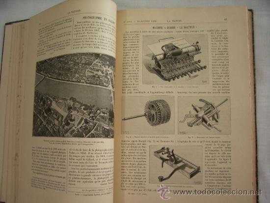 Libros antiguos: LA NATURE - REVUE DE SCIENCES - 1896 - PREMIER SEMESTRE - ENVÍO GRATIS - Foto 6 - 31221639